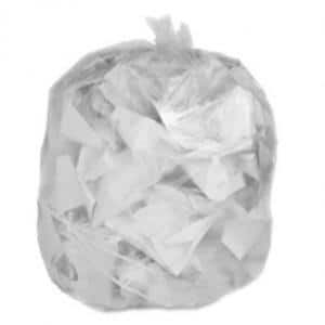 40-45 Gal. Clear High-Density Trash Bags (Case of 250)