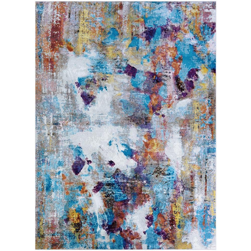 Couristan Gypsy Artists Palette Oyster Multi 4 Ft X 6 Ft Area Rug Av300227036056t The Home Depot
