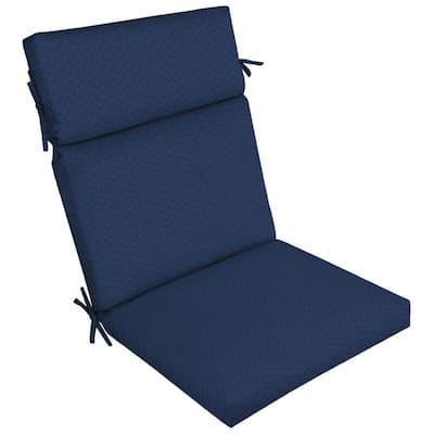 DriWeave Sapphire Leala Outdoor High Back Dining Chair Cushion