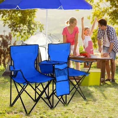 Blue Steel Camping Chair