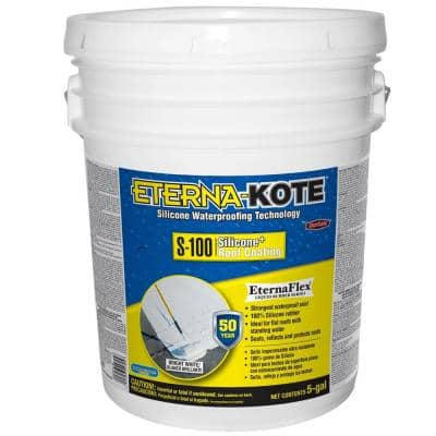 Eterna-Kote 5 Gal. S-100 Silicone Reflective Roof Coating (27-Pallet)