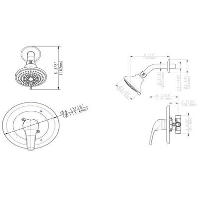 Middleton 1-Handle 5-Spray Shower Faucet Trim Kit in Satin Nickel (Valve Included)