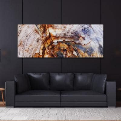 """63 in. x 24 in. """"Impact A"""" Frameless Free Floating Tempered Glass Panel Graphic Art"""