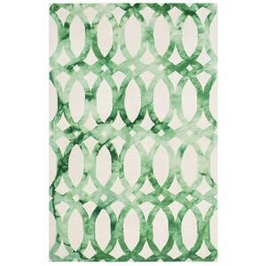 Dip Dye Ivory/Green 5 ft. x 8 ft. Area Rug