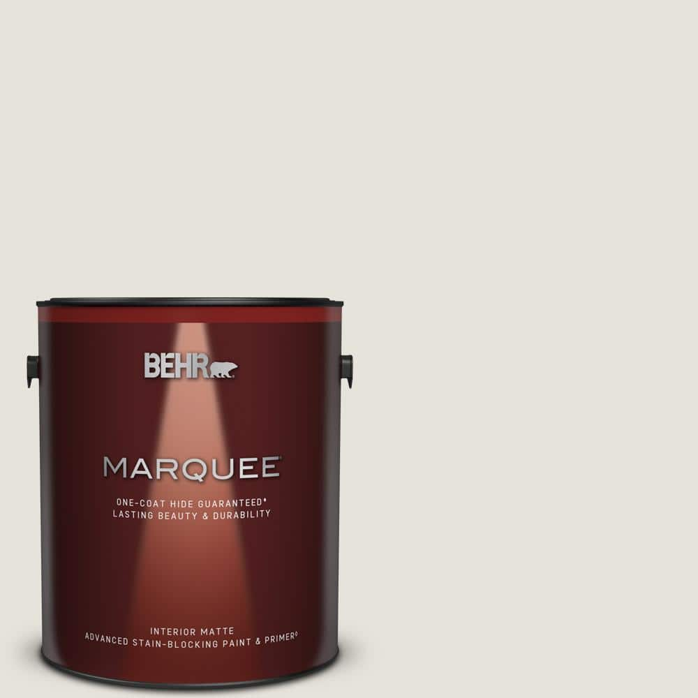 Behr Marquee 1 Gal Ultra Pure White Matte Interior Paint Primer 145001 The Home Depot