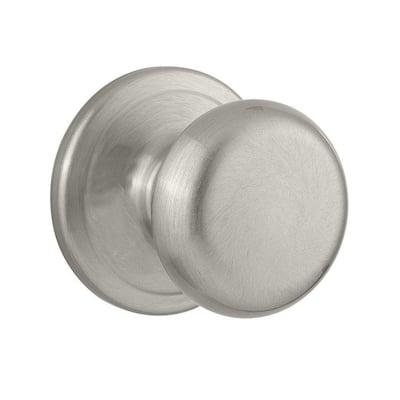 Juno Satin Nickel Passage Hall/Closet Door Knob with Microban Antimicrobial Technology