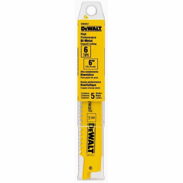 5 PACK DeWalt Bi-Metal 5//8 TPI Serial Number DW4876 Reciprocating Saw Blade