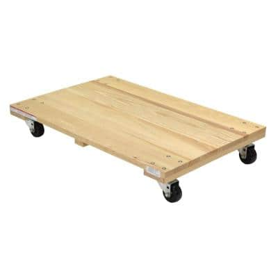 24 in. x 36 in. 900 lbs. Solid Deck Hardwood Dolly