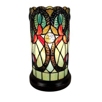 10 in. Tiffany Style Accent Banker Table Lamp