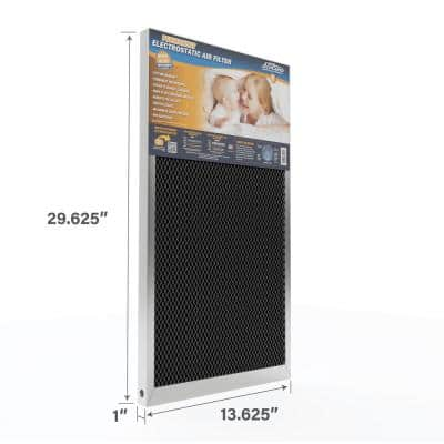 14 in. x 30 in. x 1 in. Permanent Electrostatic Air Filter FPR 9