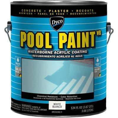 Dyco Paints Pool Paint 1 Gal 3151 Ocean Blue Semi Gloss Acrylic Exterior Paint Dyc3151 1 The Home Depot
