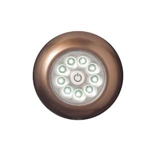 Bronze 9-LED Anywhere Puck Light