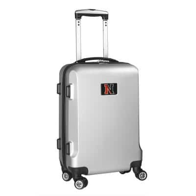 NCAA Northeastern 21 in. Silver Carry-On Hardcase Spinner Suitcase