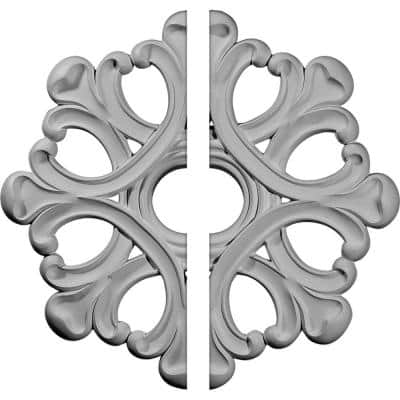 20-7/8 in. x 3-5/8 in. x 1 in. Angel Urethane Ceiling Medallion, 2-Piece (Fits Canopies up to 4-3/8 in.)