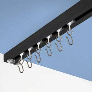 Ceiling Track Set - XX-Large, For Spaces 24ft - 30ft Wide (Black)