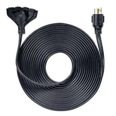 50 ft. 30 Amp 120-Volt L14-30P to (4X) 5-20R Generator Cord