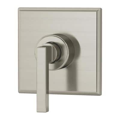 Duro 1-Handle Wall-Mounted Diverter Trim Kit in Satin Nickel (Valve Not Included)