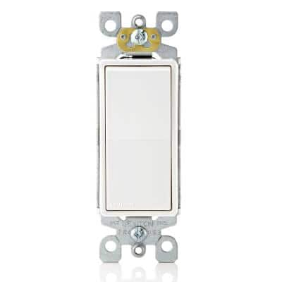 Decora 15 Amp Single-Pole AC Quiet Switch, White