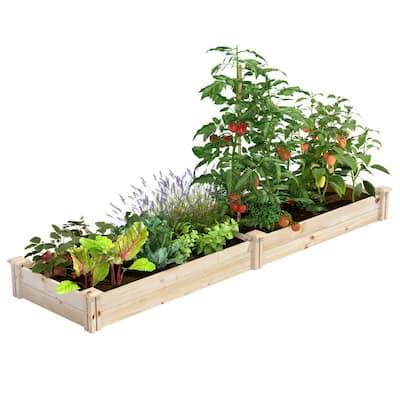 2 ft. x 8 ft. x 7 in. Original Pine Raised Garden Bed