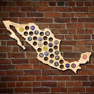 24 in. x 15 in. Large Mexico Beer Cap Map