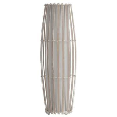 Ashington 25.5 in. Steel Brass Poles with Clear Glass Globe Up-Light Desk Lamp
