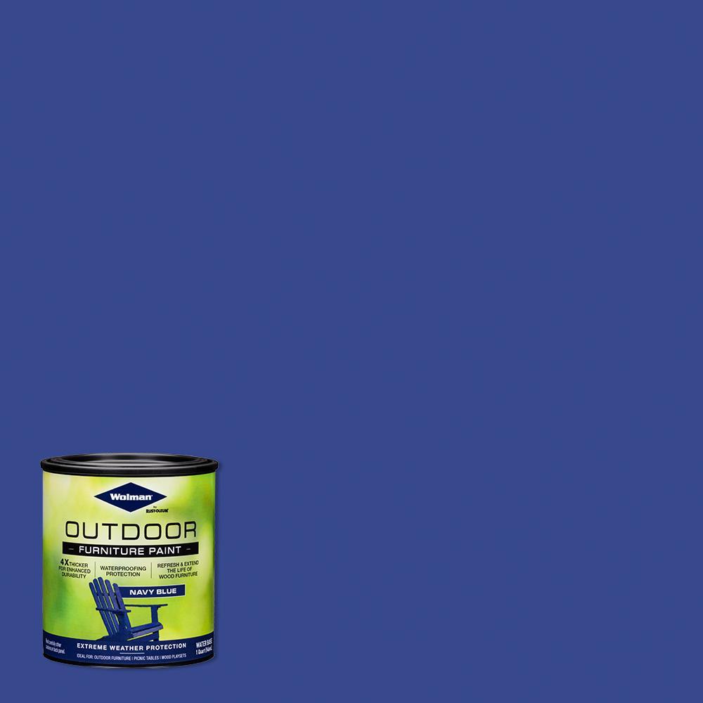 1 qt. Navy Blue Outdoor Furniture Exterior Paint (2-Pack)