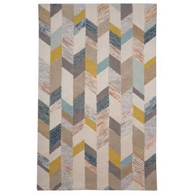 Binada Gray/Gold 8 ft. x 11 ft. Geometric Area Rug