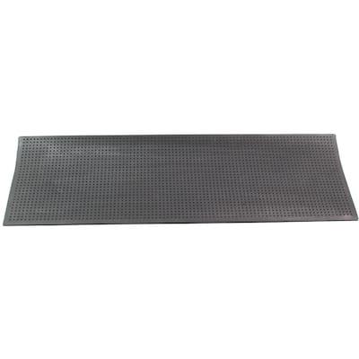 Dot Pattern Black 10 in. x 30 in. Rubber Stair Treads