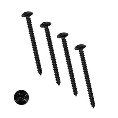 4 in. Black One-Way Screws (4-Pack)