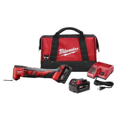 M18 18-Volt Lithium-Ion Cordless Oscillating Multi-Tool Kit with Two 3.0Ah Batteries, Accessories, Charger, Bag