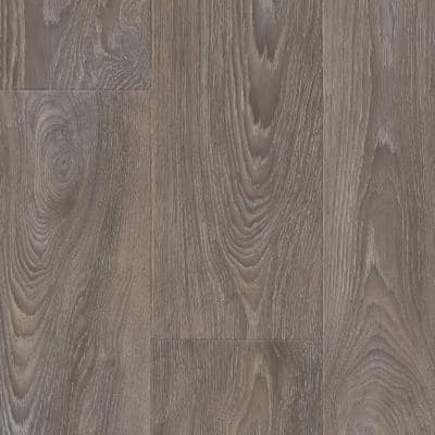 Scorched Walnut Grey Wood Residential Vinyl Sheet Flooring 12ft. Wide x Cut to Length
