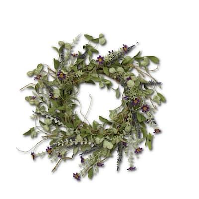 24 in. W Lavender Herb Wreath