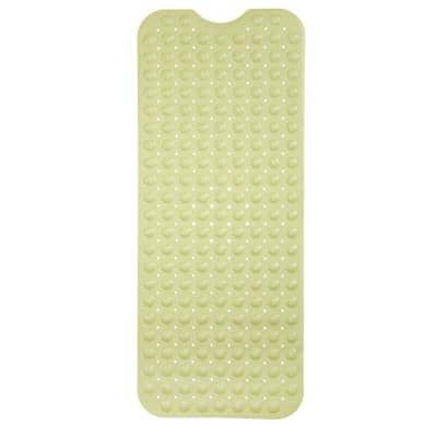 16 in. x 39 in. Extra Long Bath Mat in Yellow