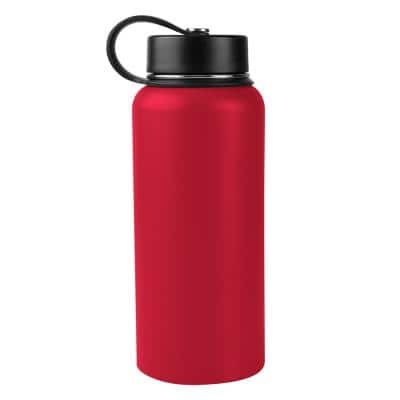 32 oz. Tomato Red Vacuum Insulated Stainless Steel Water Bottle (2-Pack)