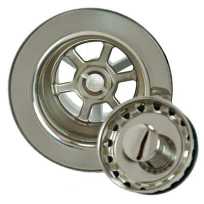 4.5 in. Bar Sink Strainer in Polished Nickel