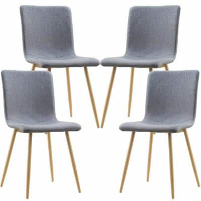 Wadsworth Gray Dining Chair with Natural Legs (Set of 4)
