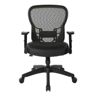 Space Seating Bonded Leather Deluxe R2 SpaceGrid Back Chair with Memory Foam