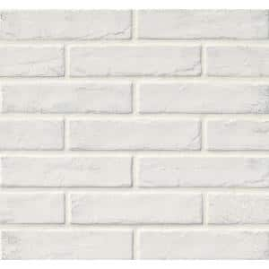 Capella White Brick 2-1/3 in. x 10 in. Matte Porcelain Floor and Wall Tile (5.17 sq. ft./case)