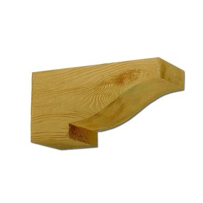 14-1/2 in. x 6 in. x 7-1/4 in. Polyurethane Wood Grain Texture Corbel