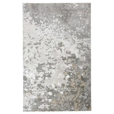 Orin Silver/Gray 8 ft. x 11 ft. Abstract Area Rug