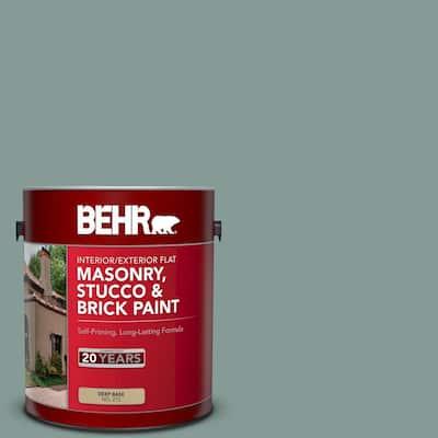 1 gal. #N430-4 Rainy Afternoon Flat Interior/Exterior Masonry, Stucco and Brick Paint