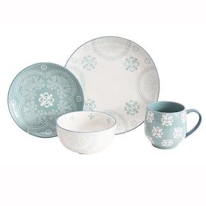 Phara 16-Piece Sky Blue Dinnerware Set