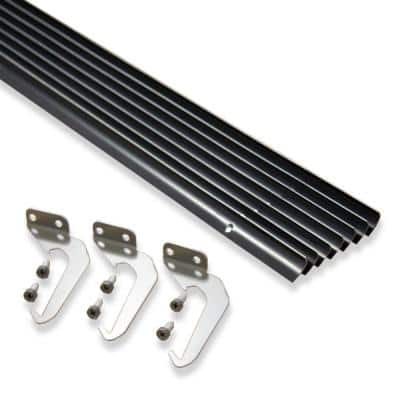 4 in. x 50 ft. Brown Aluminum Gutter with Brackets & Screws - Value Pack of 50 ft.