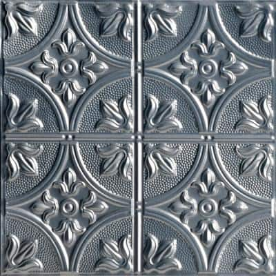 Tiptoe 2 ft. x 2 ft. Lacquered Tin Ceiling Tiles Lay-in (48 sq. ft./case)