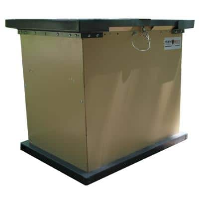 TuffBoxx BRUIN Series 100 Gal. Beige Galvanized Metal Bear-Proof Trash Can/Storage Container