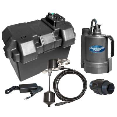 12-Volt Submersible Emergency Battery Backup Sump Pump System