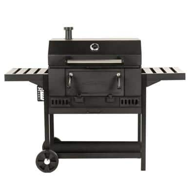 30 in. Charcoal Grill in Black
