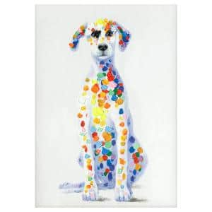 Whimsical ''Sun Loving Doggy'' By Unknown Artist Canvas Wall Art