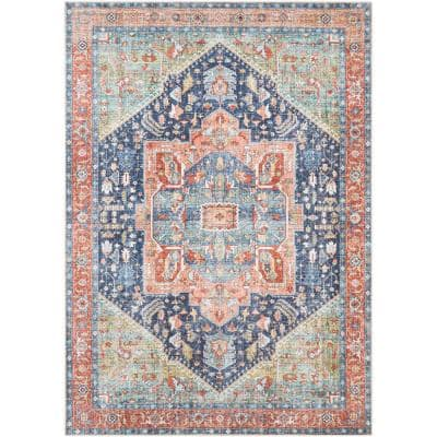 Candy Green 5 ft. 3 in. x 7 ft. 3 in. Medallion Area Rug
