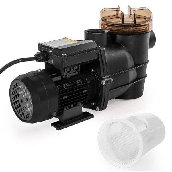Xtremepowerus 3 4 Hp 115 Volt 2600 Gph Pond Diy Self Priming Above Ground Single Speed Pool Pump 1 5 In Npt With Strainer Basket 75117 H The Home Depot